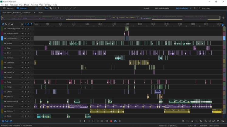 Echowood Audition Timeline