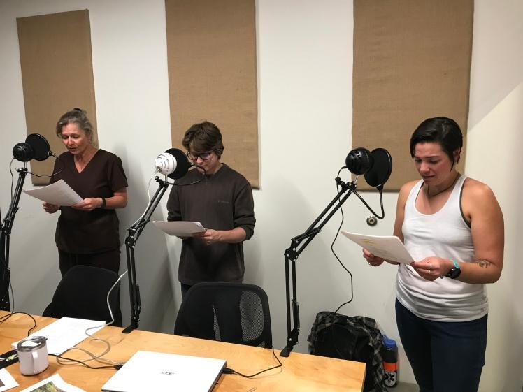 Cast at rehearsal